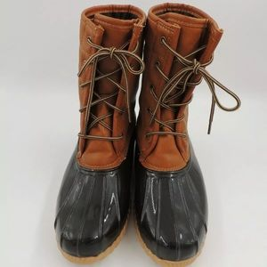 New Original Sporto Duck Rain Boot Tam Brown 9